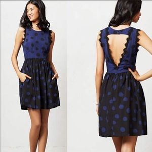 Anthropologie Corey Lynn Calter SPLIT DOTS DRESS